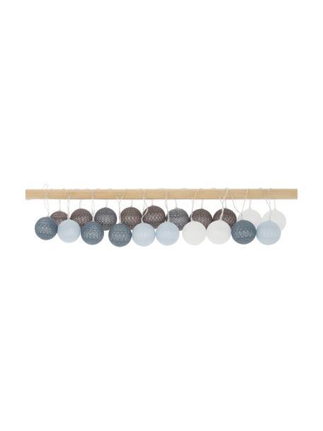 Guirnalda de luces LED Bellin, 320cm, 20 luces, Linternas: algodón, Cable: plástico, Azul, azul claro, azul oscuro, blanco, L 320 cm