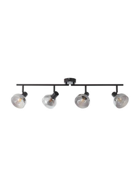 Duża lampa sufitowa ze szkła Reflekt, Czarny, szary, transparentny, S 89 x W 20 cm