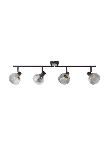 Grote plafondspot Reflekt van glas, Baldakijn: metaal, Zwart, grijs, transparant, 89 x 20 cm