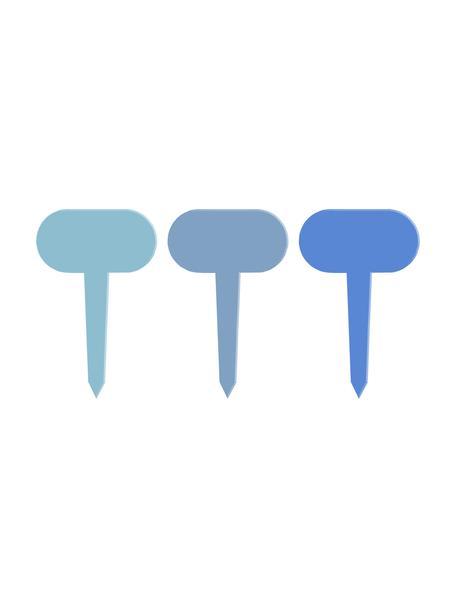 Pflanzschilder-Set Shades, 6-tlg., Metall, beschichtet, Blau, 7 x 11 cm