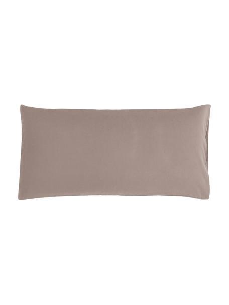 Poszewka na poduszkę z flaneli Biba, 2 szt., Taupe, S 40 x D 80 cm