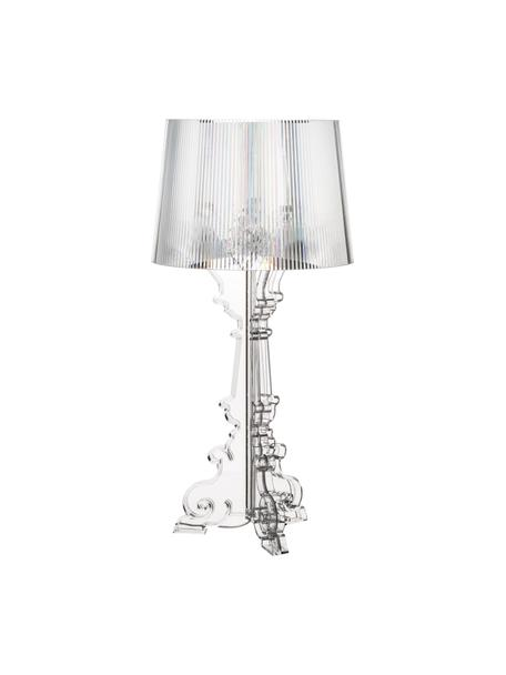 Große Transparente Design Tischlampe Bourgie, Lampenschirm: Polykarbonat, Lampenfuß: Polykarbonat, Transparent, Ø 37 x H 78 cm