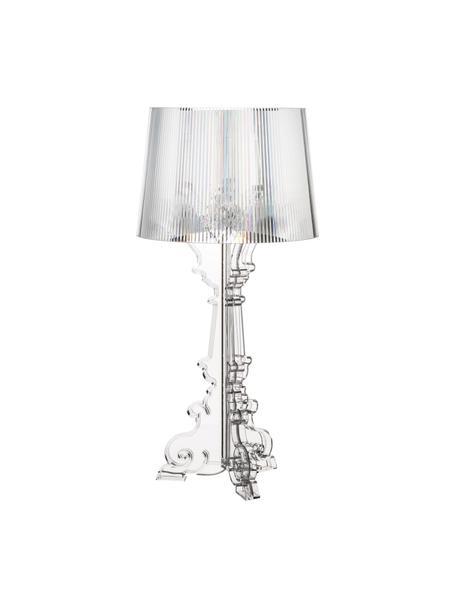 Grote design tafellamp Bourgie, Polycarbonaat, Transparant, Ø 37 x H 78 cm