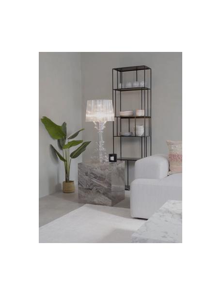 Grote transparante design tafellamp Bourgie, Polycarbonaat, Transparant, Ø 37 x H 78 cm
