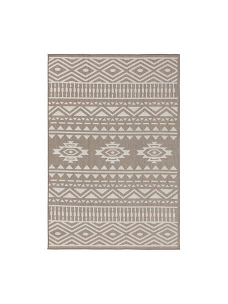 In- & Outdoor-Teppich Nillo mit Ethnomuster, 100% Polyethylen, Taupe, Creme, B 120 x L 170 cm (Größe S)