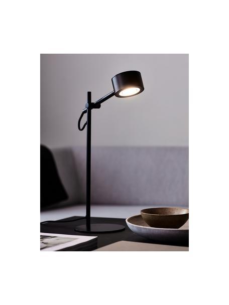 Lampada da scrivania a LED Clyde, Paralume: metallo rivestito, Base della lampada: metallo rivestito, Nero, Larg. 15 x Alt. 41 cm
