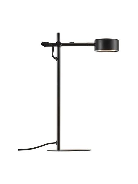 Lámpara de escritorio regulable LED Clyde, Pantalla: metal recubierto, Cable: cubierto en tela, Negro, An 15 x Al 41 cm