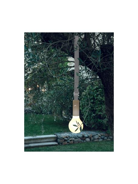 Colgador para lámpara de exterior Aplô, Correa: poliéster, Gris, marrón nuez, L 102 cm