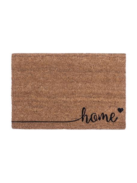 Felpudo Just For Your Home, Parte superior: fibras de coco, Reverso: plástico (PVC), Marrón, negro, An 40 x L 60 cm