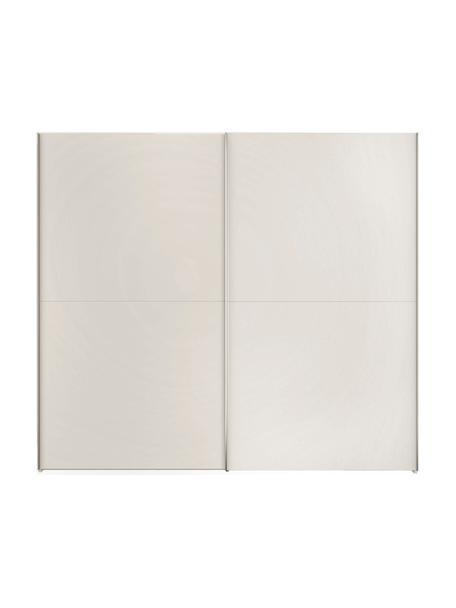 Kledingkast Oliver met schuifdeuren in wit, Frame: panelen op houtbasis, gel, Wit, 252 x 225 cm