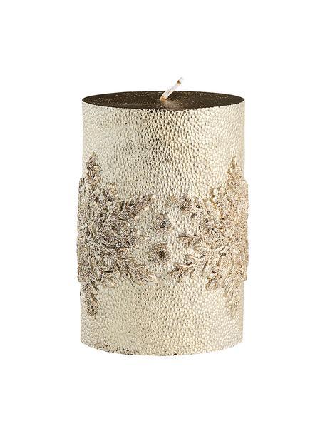 Vela pilar artesanal Stellia, Cera, Dorado, Ø 7 x 10 cm