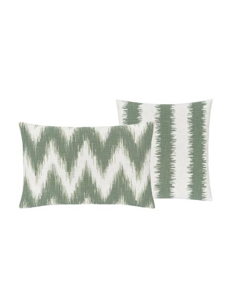 Komplet poszewek na poduszkę Hasan, 2 elem., 100% bawełna, Zielony, S 30 x D 50 cm
