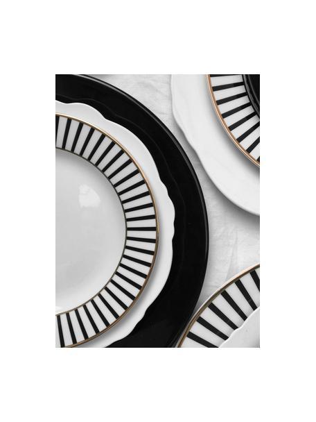Talerz śniadaniowy Muschel Loft, 4 szt., Porcelana, Biały, Ø 21 x W 2 cm