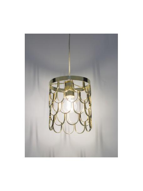 Kleine hanglamp Gatsby, Messingkleurig, Ø 18 x H 22 cm