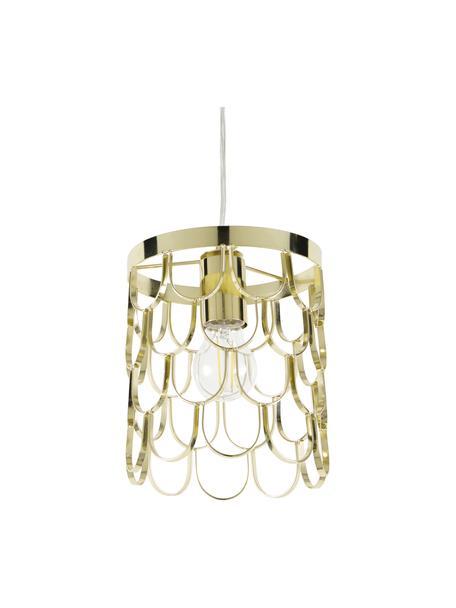 Lámpara de techo pequeña Gatsby, Pantalla: metal, Anclaje: metal, Cable: plástico, Latón, Ø 18 x Al 22 cm