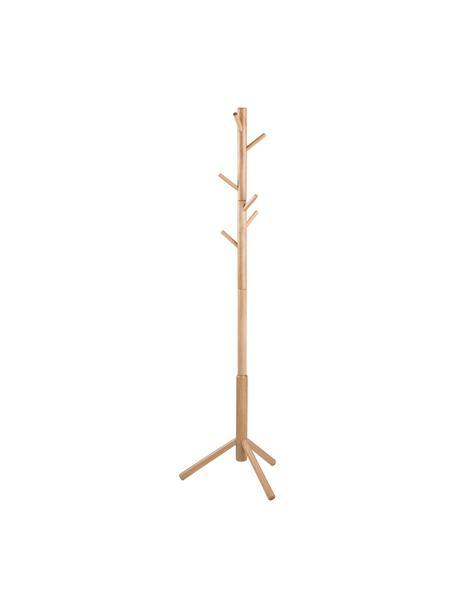 Wieszak stojący z drewna z 6 hakami Bremen, Drewno kauczukowe, Drewno kauczukowe, S 51 x W 176 cm