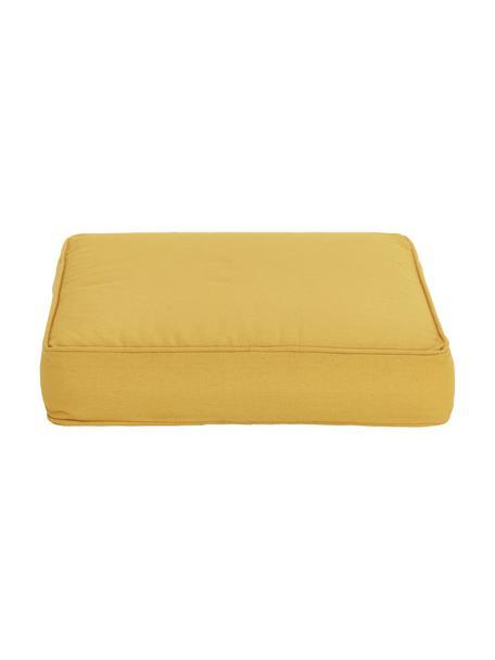 Wysoka poduszka na siedzisko Zoey, Żółty, S 40 x D 40 cm