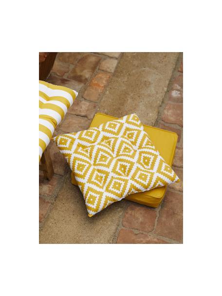 Hoog stoelkussen Zoey in geel, Geel, 40 x 40 cm