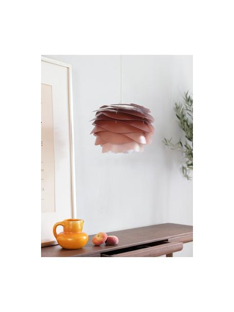 Lámpara de techo Carmina Mini, kit de montaje, Pantalla: policarbonato, polipropil, Anclaje: polipropileno, Cable: cubierto en tela, Terracota, Ø 32 x Al 22 cm