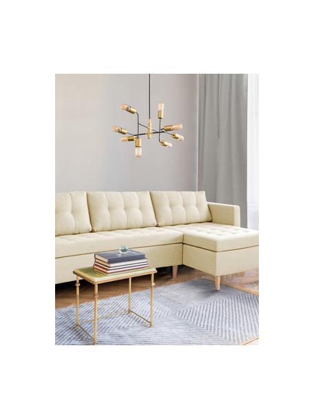 Sofá cama rinconero Fandy, plegable, Tapizado: poliéster Alta resistenci, Estructura: madera maciza, aglomerado, Patas: madera de haya, Tejido beige, An 223 x F 69 cm