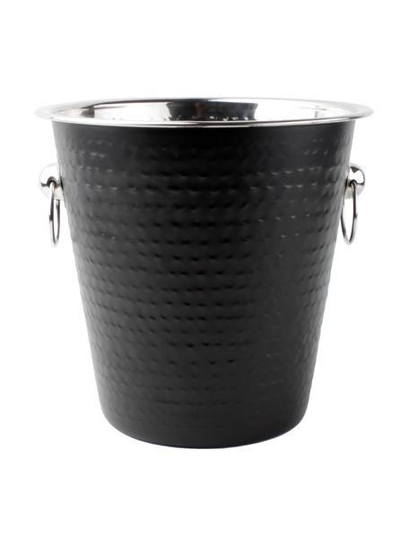 Flessenkoeler Onur, Gecoat en gehamerd edelstaal, Zwart, Ø 22 x H 21 cm