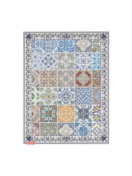Vlakke vinyl vloermat Pablo met kleurrijke print, antislip, Recyclebaar vinyl, Multicolour, 65 x 85 cm