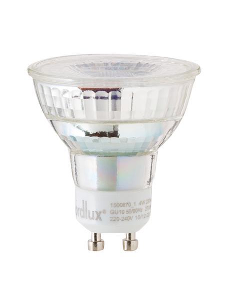 GU10 Leuchtmittel, 4W, warmweiß, 5 Stück, Leuchtmittelschirm: Glas, Leuchtmittelfassung: Aluminium, Transparent, Ø 5 x H 6 cm