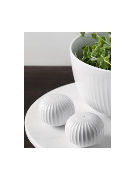 Solniczka i pieprzniczka Hammershøi, 2elem., 100% ceramika glazurowana, Biały, Ø 6 x W 4 cm
