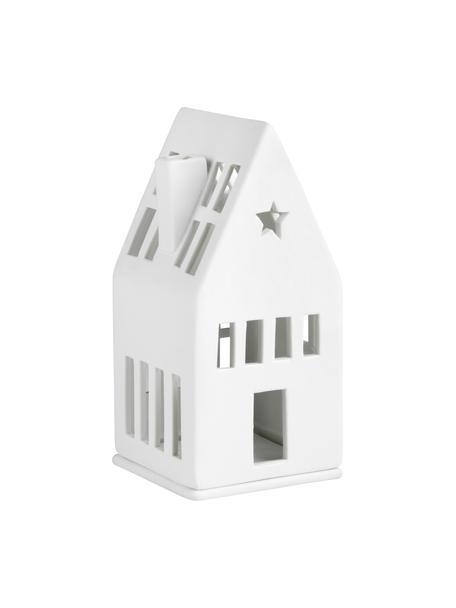 Porzellan-Lichthaus Dream in Weiß, Porzellan, Weiß, 6 x 13 cm