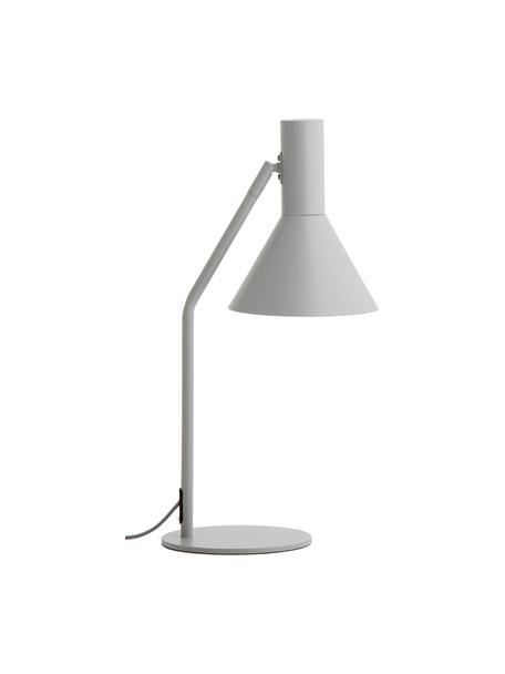 Bureaulamp Lyss in lichtgrijs, Lampenkap: gecoat metaal, Lampvoet: gecoat metaal, Lichtgrijs, wit, 26 x 50 cm