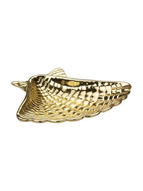 Miseczka na biżuterię Shell, Metal powlekany, Odcienie mosiądzu, S 14 x W 2 cm