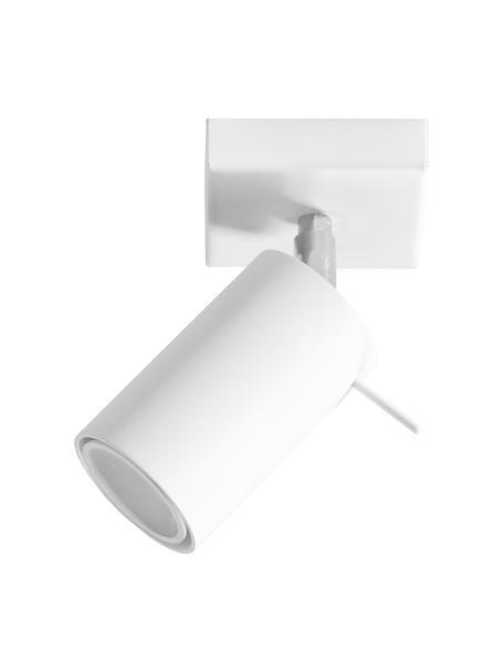 Wand- und Deckenstrahler Etna in Weiss, Lampenschirm: Stahl, lackiert, Baldachin: Stahl, lackiert, Weiss, 10 x 15 cm