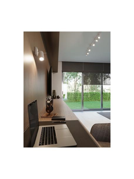 Faretto da soffitto bianco Etna, Paralume: acciaio verniciato, Bianco, Larg. 10 x Alt. 15 cm