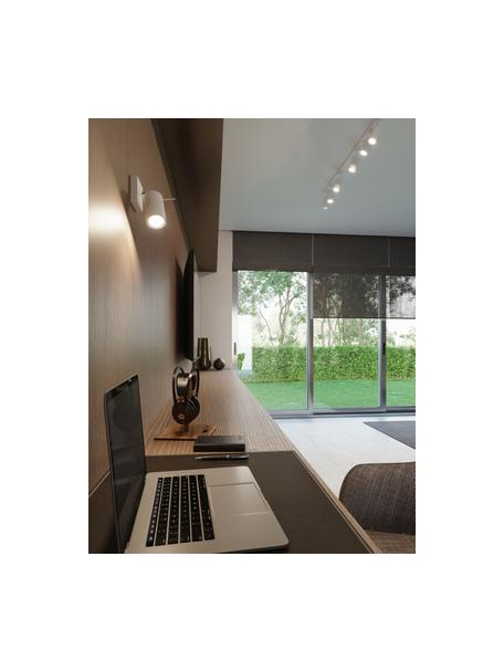 Wand- en plafondspot Etna in wit, Lampenkap: gelakt staal, Wit, 10 x 15 cm