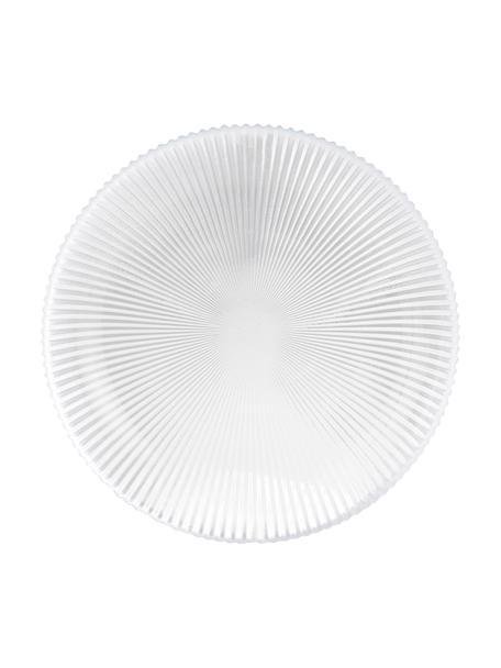 Plato postre de vidrio Nola, 2uds., Vidrio, Transparente, Ø 21 cm