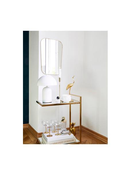 Rechthoekige wandspiegel Rounded met goudkleurige lijst, Lijst: gelakt ijzer met antieke , Goudkleurig, 35 x 51 cm