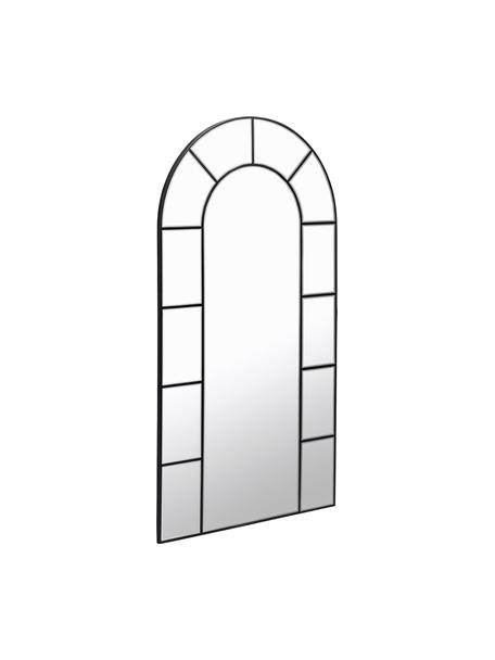 XL leunende spiegel Nediva met zwarte houten lijst, Lijst: gecoat MDF, Zwart, 88 x 165 cm
