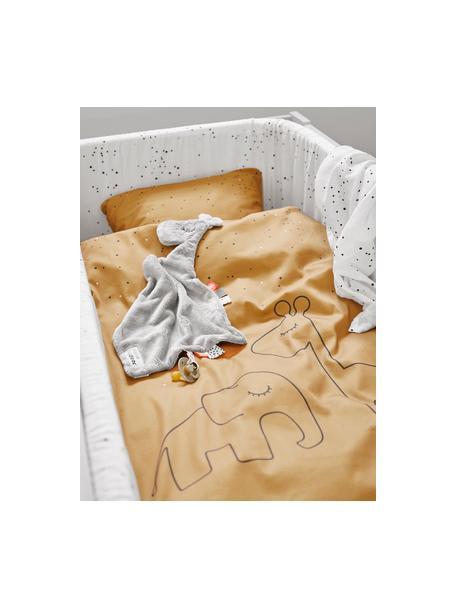 Bettnestchen Dreamy Dots, Bezug: 100% Baumwolle, Oeko-Tex-, Matratze: 100% PU-Schaumstoff, Weiß, 30 x 350 cm