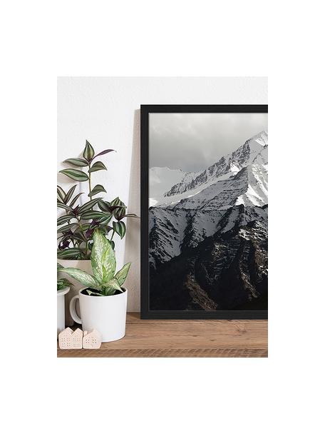 Impresión digital enmarcada Snow Mountain, Negro, blanco, An 43 x Al 53 cm