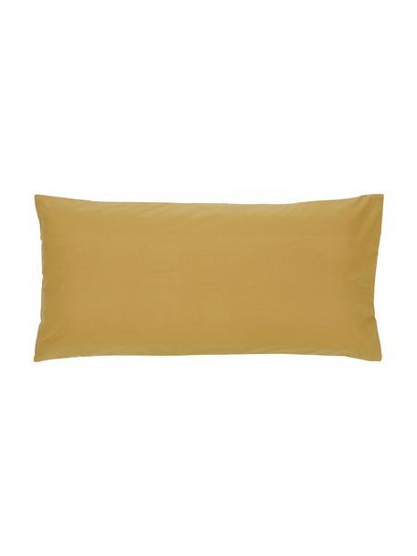 Baumwollperkal-Kopfkissenbezüge Elsie in Senfgelb, 2 Stück, Webart: Perkal Fadendichte 200 TC, Gelb, 40 x 80 cm