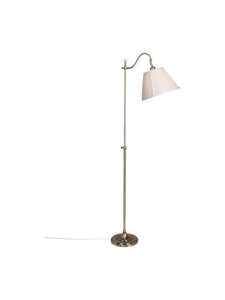 Lampa do czytania z antycznym wykończeniem Charleston, Beżowy, odcienie miedzi, S 50 x W 167 cm