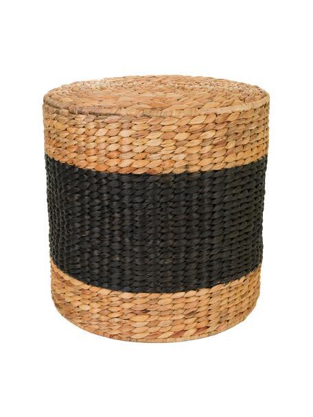 Puf Barbari, Marrón, negro, Ø 40 x Al 41 cm