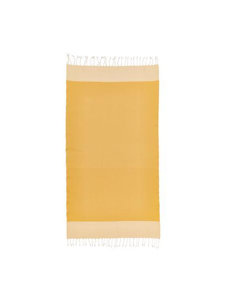 Fouta Ibiza, Azafrán, blanco, An 100 x L 200 cm