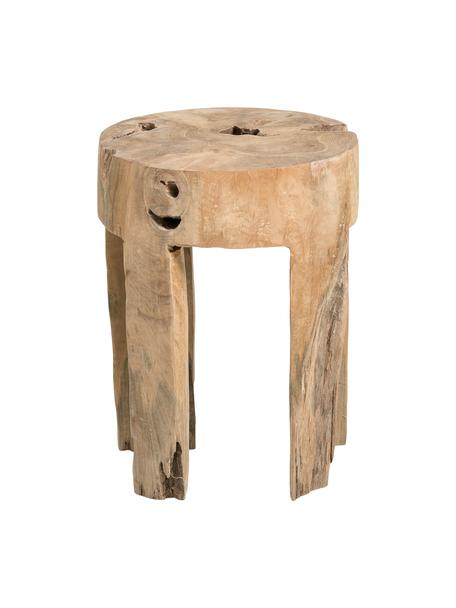 Stołek z drewna tekowego Java, Drewno tekowe, masywne, Drewno tekowe, Ø 30 x W 40 cm