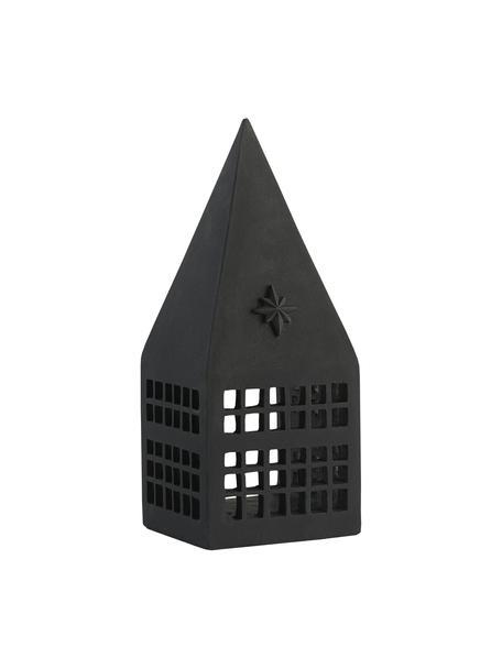 Windlich Serafina, Kunststoff, Schwarz, 10 x 25 cm