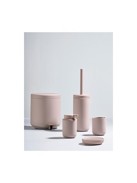 Toiletborstel Ume met keramische houder, Oudroze, mat, Ø 10 x H 39 cm