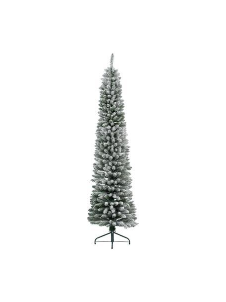 Künstlicher Weihnachtsbaum Pencil H 150 cm, beschneit, Grün, Weiß, Ø 45 x H 150 cm