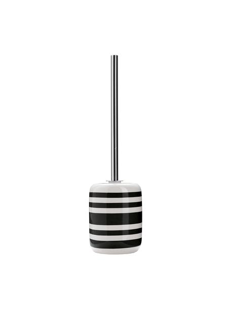 Toilettenbürste Lina mit Keramik-Behälter, Halter: Keramik, Schwarz, Ø 12 x H 40 cm