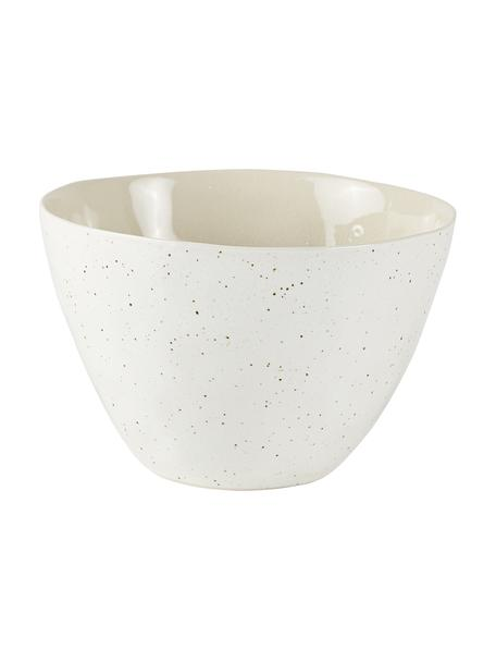Ciotola da portata Loga 2 pz, Ø 15 cm, Terracotta, con smalto craquelé, Bianco latteo, Ø 15 x Alt. 9 cm