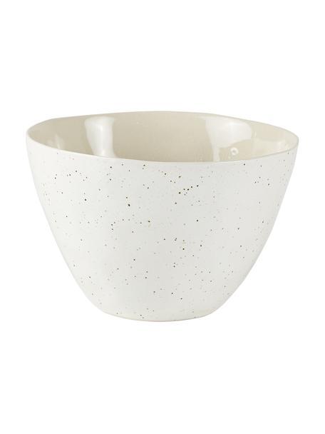 Cuencos craquelado Loga, 2uds., Gres con glaseado craquelado, Blanco crudo, Ø 15 x Al 9 cm